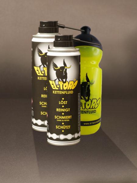 Aktionsset 2er Pack El-Toro Kettenfluid + Trinkflasche