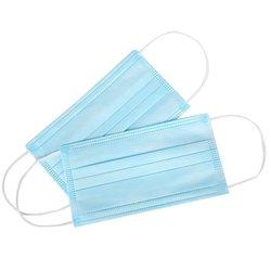 Mundschutz Masken weiß blau